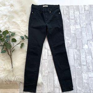 "MADEWELL▪️Black 9"" High Rise Skinny Jeans. 26"